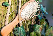 Bamboo wooden hair brush / drevené kefy na vlasy