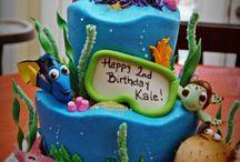 Cake - Nemo, Dory, Sea, Mermaids
