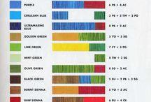 Tabla De Mezclas De Color