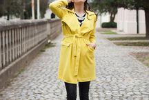 yellow trenchcoat