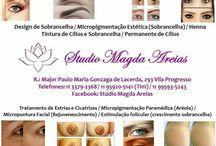 studio magda areias / Design de sobrancelhas,micropigmentação,henna e tintura de sobrancelha,permanente e tintura de cilios,micropuntura facial (rejuvenescimento, estrias)
