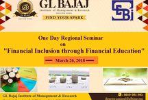 """GLBIMR is organizing """"Regional Seminar on Financial Inclusion through Financial Education"""""""