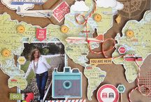 Travel scrapbook idea