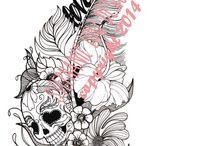 doodshoofden tatoos