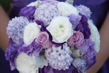 Denise and Mark / June 2014 - Vintage and relaxed with travel theme.  Cadbury purple, yellow, blue and ivory.