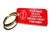 Medical Tags / Keychains / Medical ID Keychains