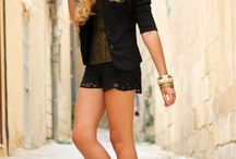Shorts, short suits... / Trendy fashionable items