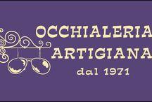 SUNGLASSES OCCHIALERIA ARTIGIANA / Occhialeria Artigiana disegna e realizza occhiali da vista e da sole interamente a mano utilizzando materiali rigorosamente certificati made in Italy. Infatti, le linee semplice, il taglio manuale e le finiture di pregio sottolineano l'accuratezza del lavoro artigianale http://www.occhialifacili.com/brand/occhialeria-artigiana/