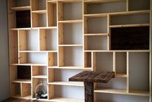 built in book case