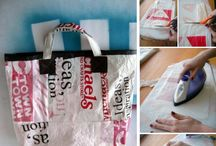 reciclando bolsas de plastico