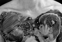 chest tattoos / Tatts