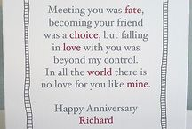 Wedding anniversary cards