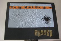 2013 Hallowe'en cards / handmade one-of-a-kind cards, some stampin' up, some not