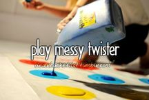 Bucket list... To do and have done