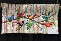 webbänder Vogel quilt