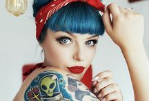 girl's tattoo pin up