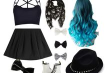 pastel emo goth / what I want to look like