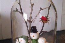 Decorações de natal artesanal
