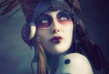 maquiagem e fantasia