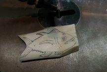 Fish bone carving