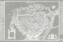 Mapa gdanska del braz