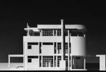 RM 1976 House Prototypes for Concord MA.  Unbuilt.  Photo by Wolfgang Hoyt/ESTO. / RICHARD MEIER