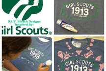 T-shirt crafts! / Are your old Girl Scout shirts too small to wear, but too special to throw away? Save the memories by doing one of these fun crafts with your old shirts! Then stock up on new shirts through the month of August at a GSOSW shop with a great sale...buy one shirt, get one half off! / by Girl Scouts OSW