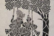 sanjhi paper art