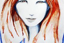 suluboya marker kalem çalışmalarım / resim sanat