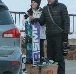 SANDRA BULLOCK at The Jackson Hole Wyoming Ski Resort