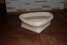 Košíky / Vytváření pletených košíků z pedigu.