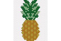 Inspiration tissage perles Miyuki fruit