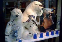 Merchandising- Fall-Winter Displays / Fall and Winter Eyecare window display ideas. Includes Back to School, Fall and Winter.  For Ideas on Merchandising for Halloween, Thanksgiving and Christmas, see out individual boards.