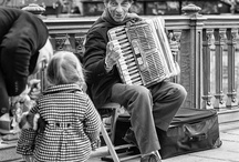 Music on the Streets in black and white / by Bill Reese