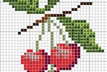 Cross Stitch || Fruits - Frutas punto de cruz