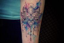 tattoo geometric lotus