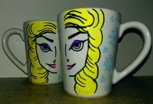 Posca markers painted mugs