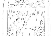 Vystřihovánky do oken (zimní, vánoční)