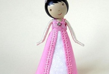 clothespin and twisty dolls / by Judy Roberts