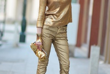 "Fashion&Style: Metallic colour / by ""Outfit Ideas, by Chicisimo"" Fashion iPhone App"