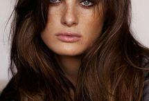 brunt hår / olika toner av bruna nyanser