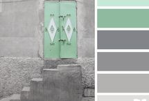 grijs en groen