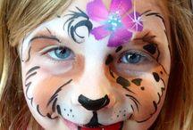 Schmink meisje tijger