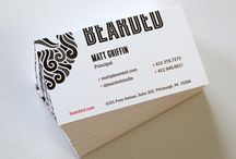 Business Card designs I like