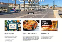 Diseño web, Restaurante AlMar / Aquí os presentamos el diseño web para el Restaurante AlMar, Valencia.