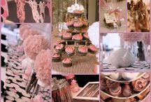 Tea Party Baby Shower - Twins
