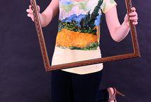 Ван Гог Van Gogh / Pirinka.com теперь создает копии картин известных художников на одежде.