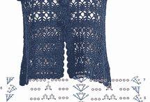 Para blusas e vestidos de crochet