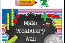 Math Word Wall (2nd Grade) Bundle - 141 Cards / Math Word Wall {2nd Grade}. Mathematics vocabulary word wall cards provide a display of mathematics content words and associated visual cues to assist in vocabulary development. The cards should be used as an instructional tool for teachers and then as a reference for all students, particularly English learners and students with disabilities.