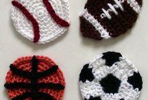 Bolas de desporto em crochet